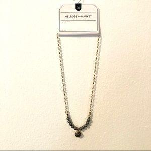 Melrose & Market Grey Stone + Bead Necklace